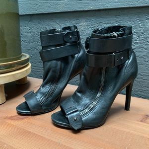 Dolce Vita Shoes - Dolce Vita Leather Peep Toe Booties